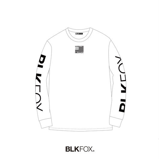 【受注販売】BLKFOX LONG T-SHIRT 01 / WHITE × BLACK