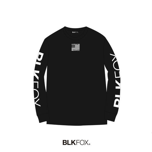 【受注販売】BLKFOX LONG T-SHIRT 01 / BLACK × WHITE