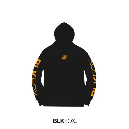【受注販売】BLKFOX HOODIES 02 / BLACK x ORANGE