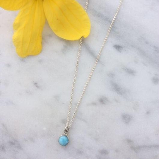 Mini Larimar Necklace