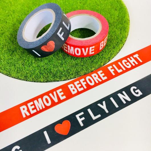SPストア限定販売! マスキングテープ(REMOVE BEFORE FLIGHT / I❤️FLYING)2種セット