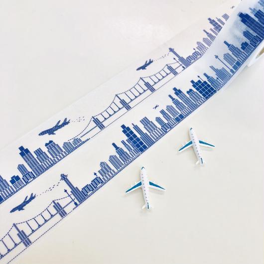 【最後の1点!】飛行機で描いた街:マスキングテープ