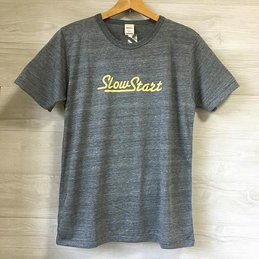 Slow Start ロゴTシャツ(ヘザーチャコール)