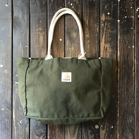 NOCARE/NC COTTON TOTE BAG_OLIVE