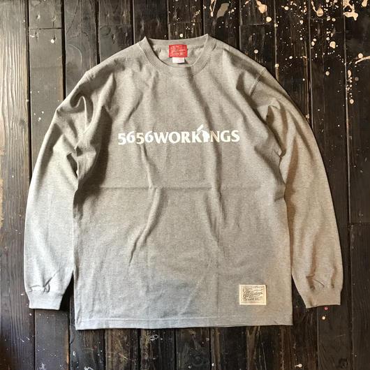 5656WORKINGS/LOGO L/S UNIFORM_GRAY