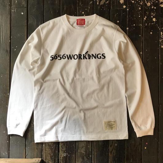 5656WORKINGS/LOGO L/S UNIFORM_WHITE