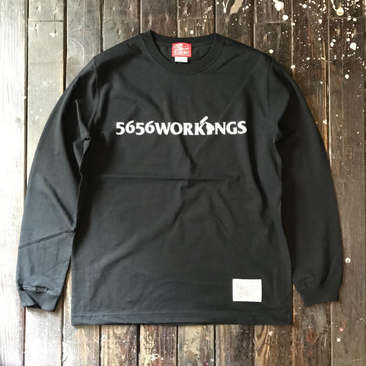 5656WORKINGS/LOGO L/S UNIFORM_BLACK