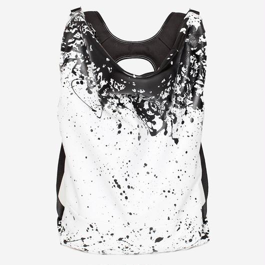 ★2018 春新作【28664】Timsah  Printed Alias Cowhile Leather 本革 - White/Black    Cote&Ciel コートエシエル リュックサック