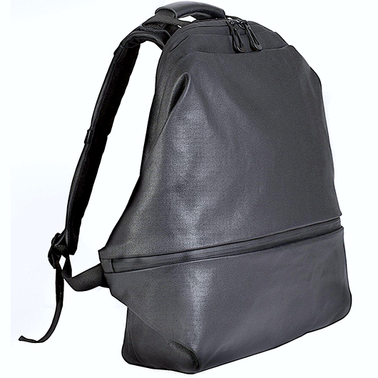 【28333】MEUSE  COATED CANVAS & LEATHER本革 - Black  Cote&Ciel コートエシエル リュックサック