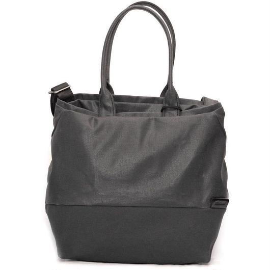 【28329】★Kalix Tote Bag M Coated Canvas Lava Rock Black Cote&Ciel コートエシエル ショルダーバック