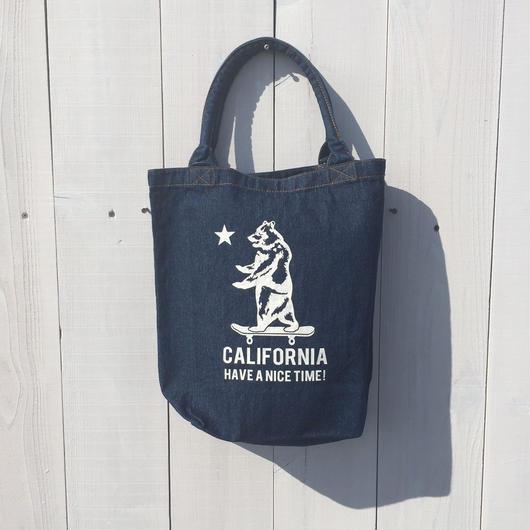 カリフォルニア デニムトートバック CALIFORNIA HAVE A NICE TIME! ベア