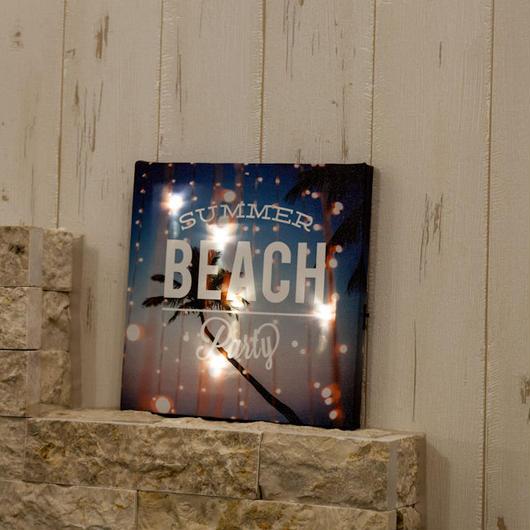 Lightingリゾートキャンバスピクチャー LED内蔵 BEACH