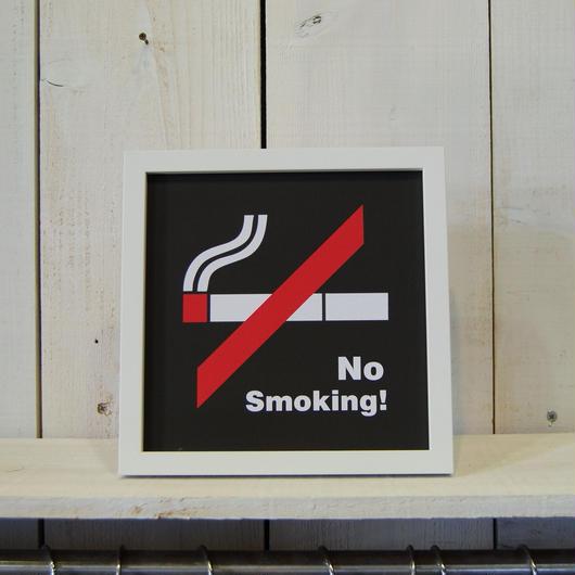 No Smoking  ノースモーキング 禁煙 アートフレーム サインフレーム