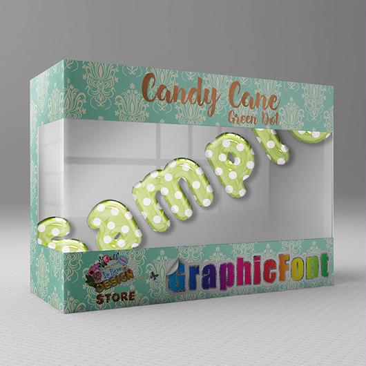 Candy Cane(Green Dot)