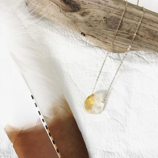 14KGF Citrine Rock Necklace #1