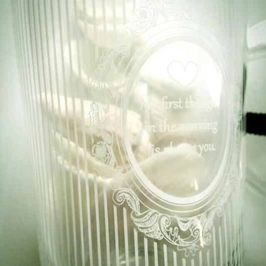 極細ストライプ ホワイト ガラス用
