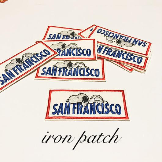 San Franciscoアイロンパッチ