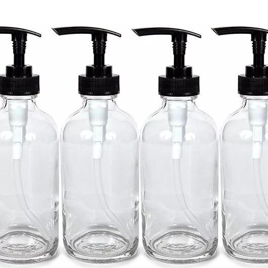 【お取り寄せ】4個セット240mlガラスローションボトル
