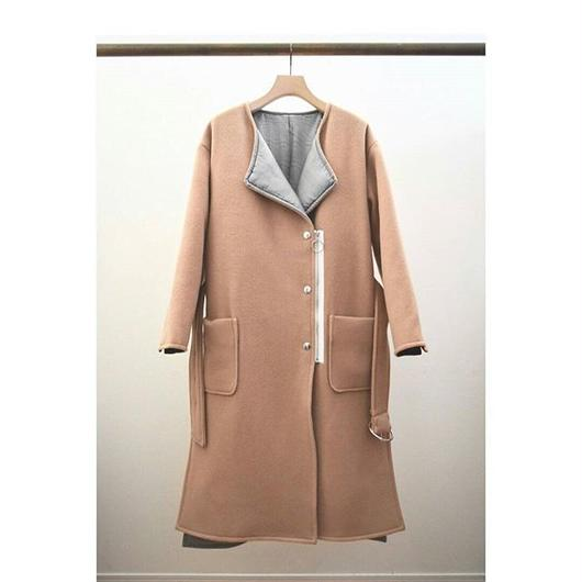 belted wool mix coat CAMEL