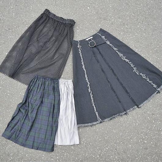 3 pcs multi layered skirt BLACK