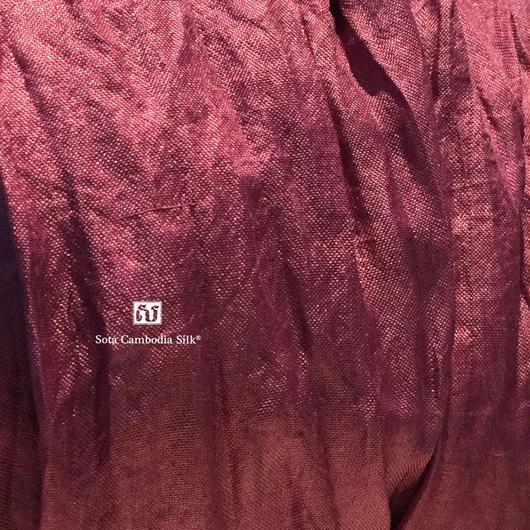 ソウタカンボジアシルク カンボジアシルクスカーフ シルクスカーフ スカーフ アジアンスカーフ 手織りスカーフ パープル ファッション シルク雑貨 シルクショップ