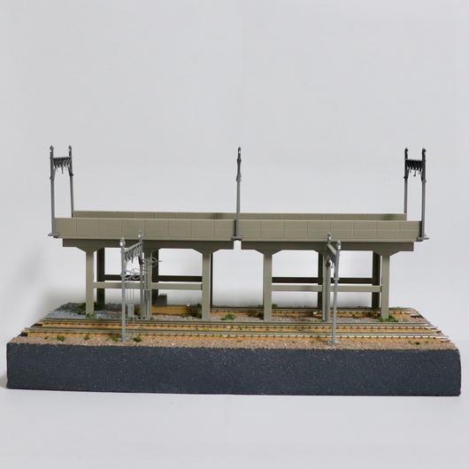 高架線と操車場_02 ミニジオラマ(モジュールレイアウト)
