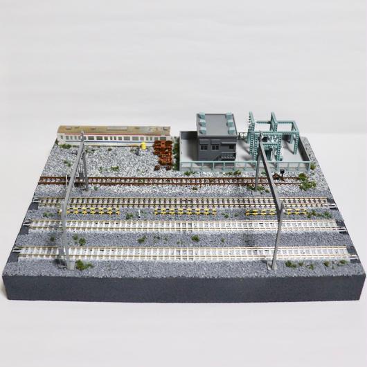 変電所とヤード ミニジオラマ(モジュールレイアウト)機関区連結B