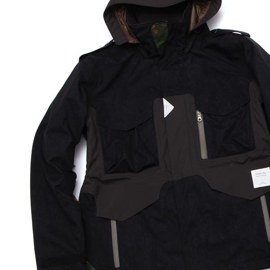 RE-MADE Jacket BLACK×YUZEN CAMO×BROWN