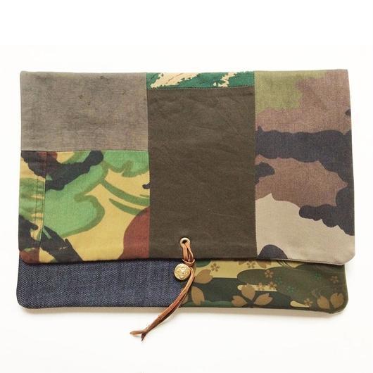 REMADE Clutch Bag 《クラッチバッグLサイズ・ビンテージミリタリー 》