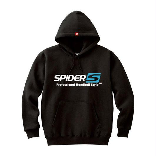 SPIDERハンドボールフーデッドパーカ SP-SPW01  ブラック×ホワイト×サファイアブルー