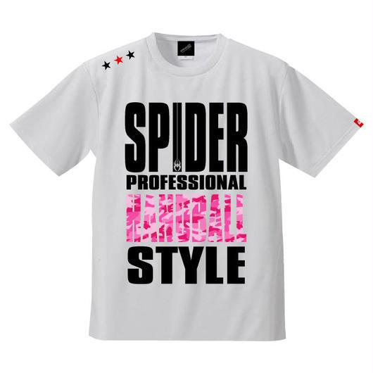 REAL SPIDERハンドボールTシャツ  SP-T01   ホワイト×迷彩柄ピンク