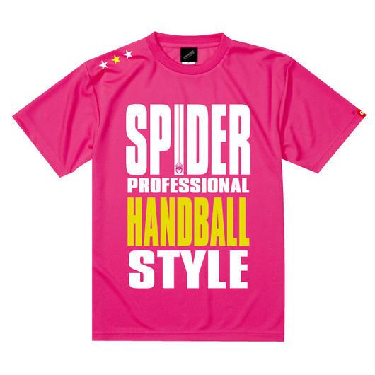 REAL SPIDERハンドボールTシャツ SP-T01 ネオンピンク