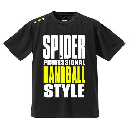 REAL SPIDERハンドボールTシャツ  SP-T01   ブラック×ネオンイエロー