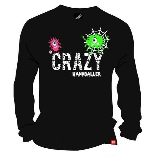 CRAZY HANDBALLER ドライロングTシャツ ブラック