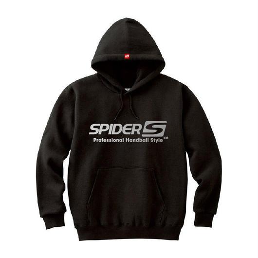 SPIDERハンドボールフーデッドパーカ SP-SPW01  ブラック×シルバー