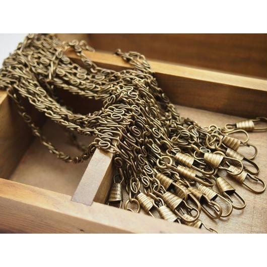アンティークゴールドS字チェーン40cm 持ち手 バッグハンドル