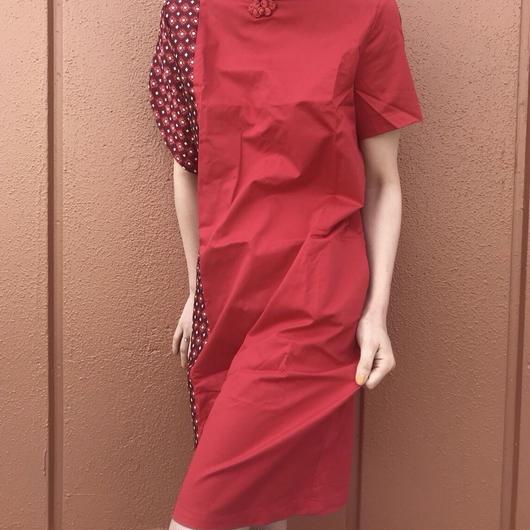 JAQUARD QIPAO DRESS (RED.ver)