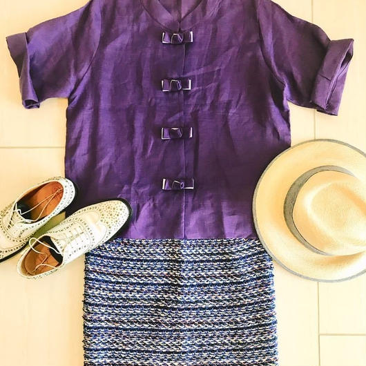 Summer Linen Qipao[PURPLE] / Thailand