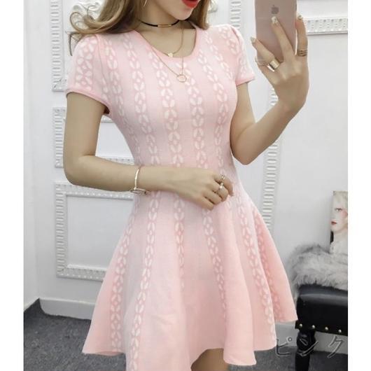 サマーニットワンピ ♡ ピンク
