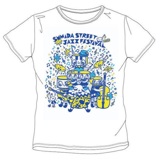 【2016年】【白地×ブルー&イエロー】すみだジャズTシャツ [4枚]