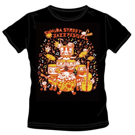 【2016年】【黒地×柑橘系カラー】 すみだジャズTシャツ [4枚]