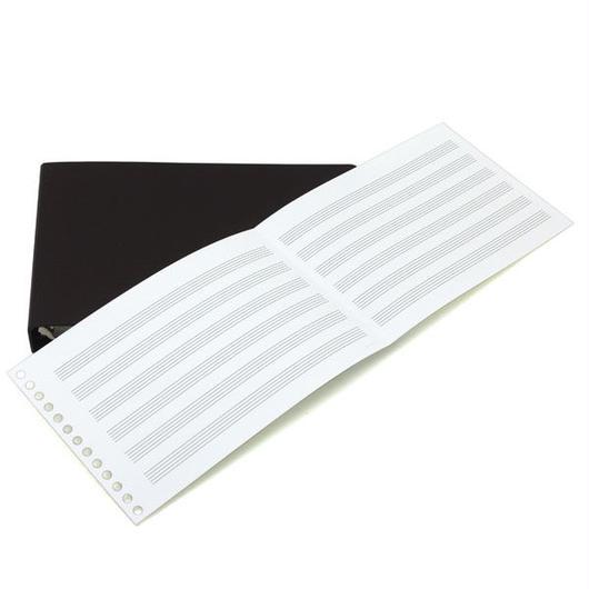 B-TAO五線紙ダブルCLバインダー付き チョコ