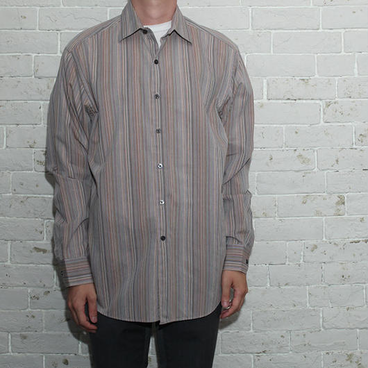 Stripe Design L/S Shirt
