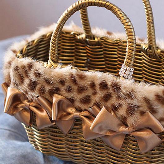 オールリボンカゴバッグ Sサイズ ゴールド