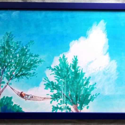 高精度複製画「高原のハンモック」(『小さな恋のものがたり』より)