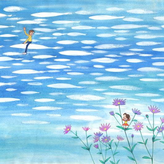 高精度複製画「空へ…」(『小さな恋のものがたり』より)