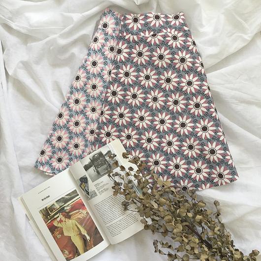 フラワーミニマルAラインスカート