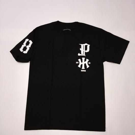"POLY LOVE HAWAII ""HAWAIIAN KNUCLE"" BLK/WHT TEE"