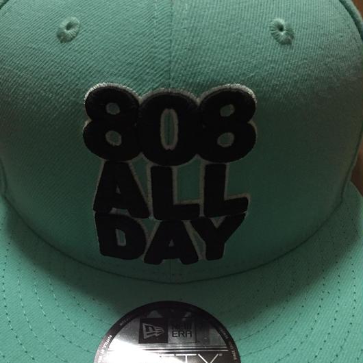 """808ALLDAY """"LOGO""""  TEAL hat"""