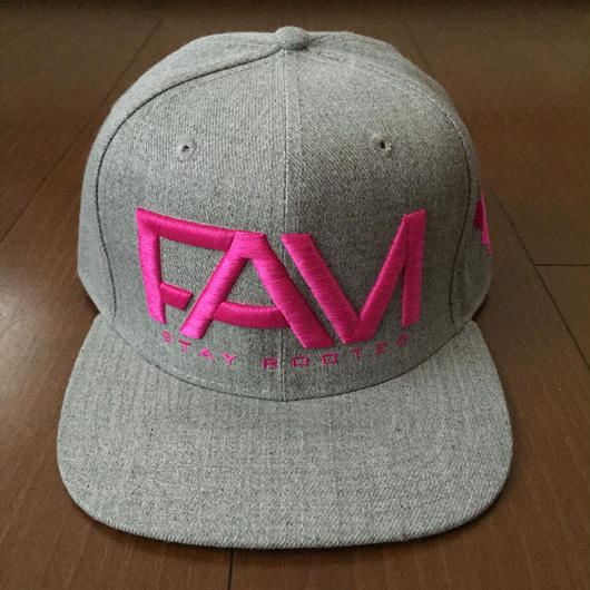 "FAM HAWAII ""LOGO"" Hat Gray / Pink"